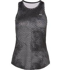 printed tank top t-shirts & tops sleeveless svart röhnisch