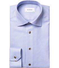 eton shirt contemporary fit blauw geprint