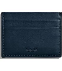 men's shinola leather card case - blue