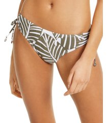 dkny printed side-tie bikini bottoms women's swimsuit
