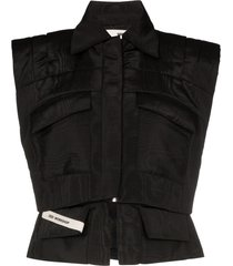 032c cosmic workshop vest jacket - black