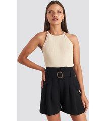 mango fancy shorts - black