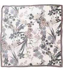 vince camuto botanical sketch silk square scarf