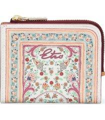 etro floral-print wallet - white