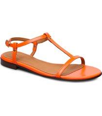 sandals 4902 shoes summer shoes flat sandals orange billi bi