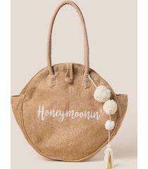 honeymoonin' round tote - natural