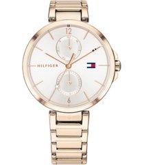 tommy hilfiger women's rose gold-tone stainless steel bracelet watch 36mm