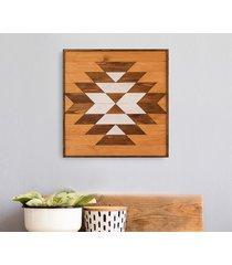 drewniany obraz mozaika -warm