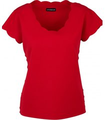 bluzka w kolorze czerownym