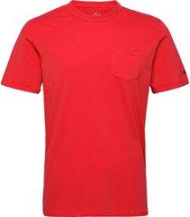 basic t-shir t-shirts short-sleeved röd tom tailor