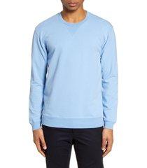 men's goodlife slim micro terry crewneck sweatshirt, size x-large - blue