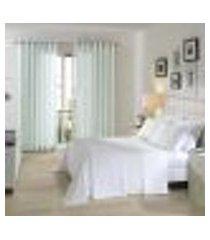 jogo de cama queen 150 fios living branco