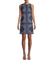 tommy hilfiger women's journey paisley-printed dress - sky blue - size 2