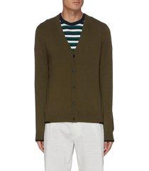contrast stitch knit cardigan