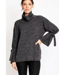sweater gris gold natalia olivo