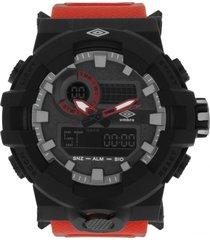 reloj digital análogo rojo umbro