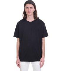 acne studios evert t-shirt in black cotton