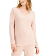 charter club luxe ribbed pajama top, created for macy's