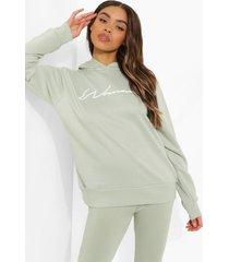 woman hoodie en leggings set, sage