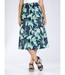kjol m. collection marinblå::grön