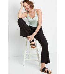 maurices womens lakeside high rise black super soft wide leg pants