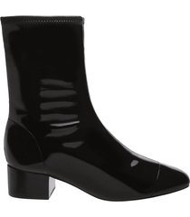 messina bootie - 10 black patent leather