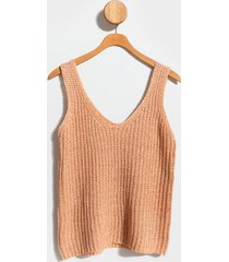 calley v-neck sweater tank top - peach