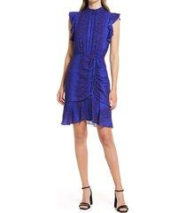 women's sam edelman snake print sheath dress, size 2 - blue