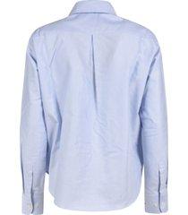 jejia long ruffled detail shirt