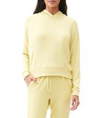 women's michael stars emmy hoodie, size large - yellow