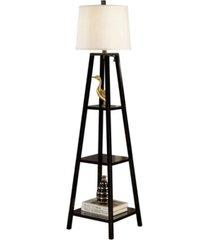 "artiva usa elliot modern 63"" finish 3-tiered wood floor lamp"