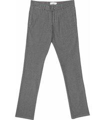 pantalón casual 340 textura slim fit para hombre 04397