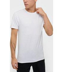 selected homme slhnewpima ss o-neck tee b noos t-shirts & linnen vit