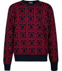 moncler all-over logo ribbed sweater