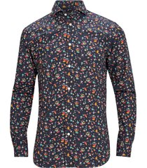 skjorta slhslimsel birds shirt