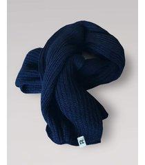 bufanda azul rever pass lisa punto ingles