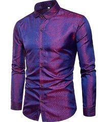 camicia casual da uomo elegante e lucida con colletto alla rovescia per uomo