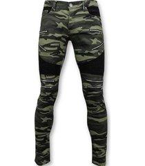 skinny jeans true rise luxe army style biker jeans zip