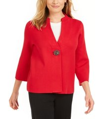jm collection brooch cardigan, created for macy's