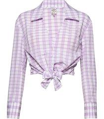 merona blouse lange mouwen paars baum und pferdgarten