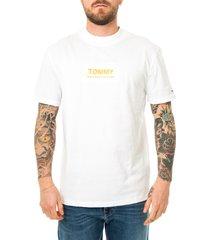 tommy hilfiger t-shirt uomo tommy jeans high neck logo tee dm0dm08442.ybr
