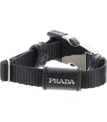 prada belt buckle nylon bracelet