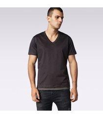 camiseta diesel t-eric   masculina cinza