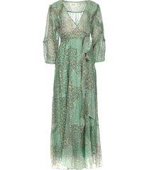 maxi jurk met lurex oriane  blauw