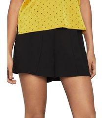 bcbgmaxazria women's silk georgette shorts - black - size l