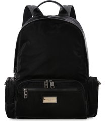 dolce & gabbana nero sicilia dna logo detail nylon backpack