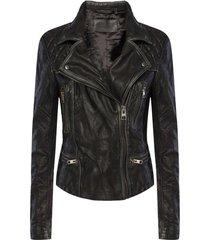 'cargo' leather jacket