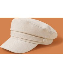 plain linen military cap
