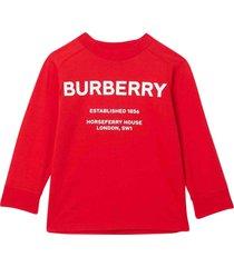 burberry red sweatshirt