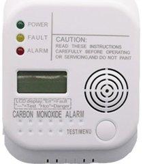 monóxido de carbono detector de alarma del sensor inteligente de voz humana digital advertencia lcd display de monóxido de plástico aviso de alarma del detector de 1pcs